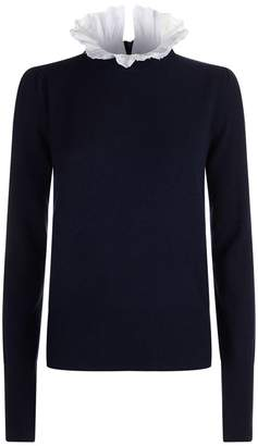 Sandro Embellished Collar Sweater