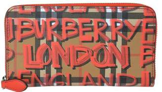 Burberry Vintage Check And Graffiti Print Wallet