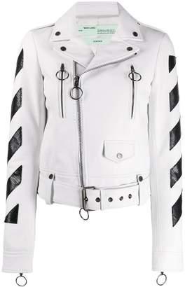 Off-White striped biker jacket