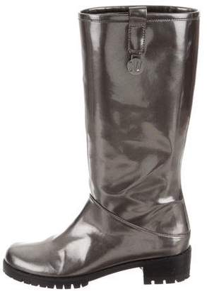 Stuart Weitzman Metallic Knee-High Boots