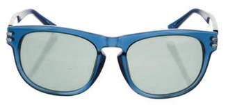 Linda Farrow Tinted Square Sunglasses navy Tinted Square Sunglasses