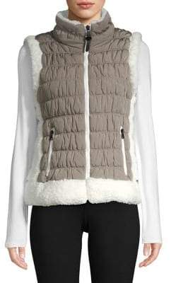 Calvin Klein Faux Fur Quilted Puffer Vest
