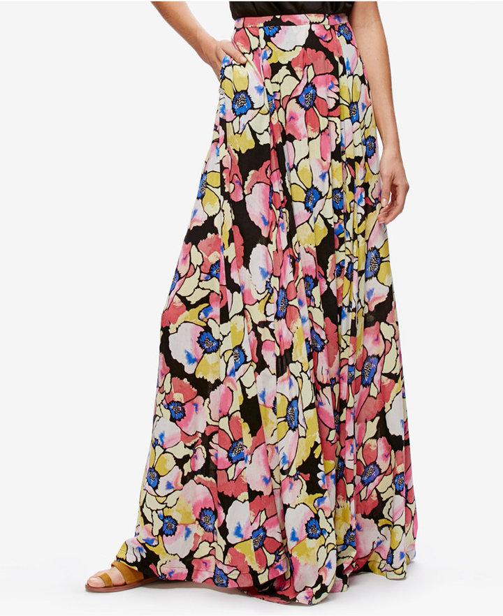 Free People Hot Tropics Printed Maxi Skirt