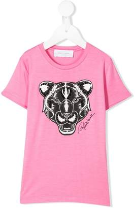 Roberto Cavalli Junior tiger face T-shirt