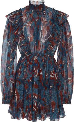 Ulla Johnson Vienne Metallic Mini Dress