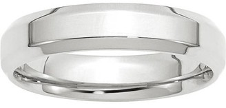 Wedding Bands USA 14KW 5mm Bevel Edge Comfort Fit Band Size 7