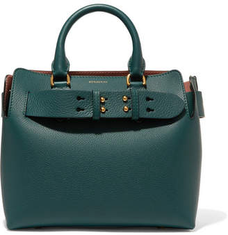 Burberry Textured-leather Tote - Green