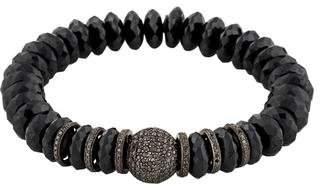 Sheryl Lowe Spinel & Pavé Diamond Bead Bracelet