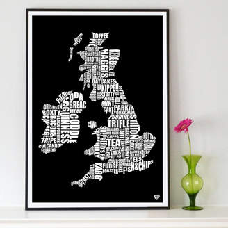 Lucy Loves This British Gastronomy Map Print