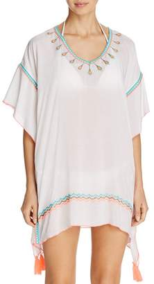 Surf.Gypsy Embroidered Poncho Swim Cover-Up