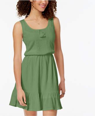 Be Bop Juniors' Ruffled-Hem Peasant Dress