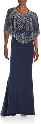Betsy & Adam Layered Embellished Dress $309 thestylecure.com