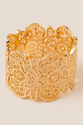francesca's Morgan Filigree Stretch Bracelet - Gold