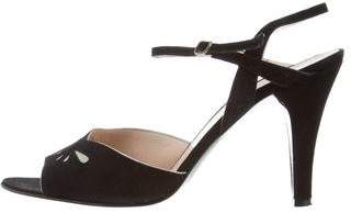 Marc by Marc Jacobs Suede Ankle Strap Sandals