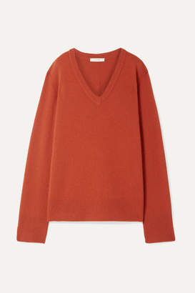 The Row Elaine Oversized Wool And Cashmere-blend Sweater - Brick