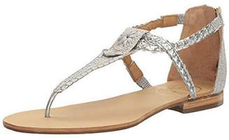 Jack Rogers Silver Thong Sandal