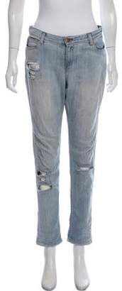 IRO Mid-Rise Distressed Skinny Jeans