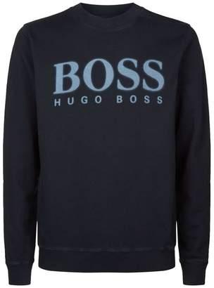BOSS ORANGE Fade Logo Printed Sweatshirt