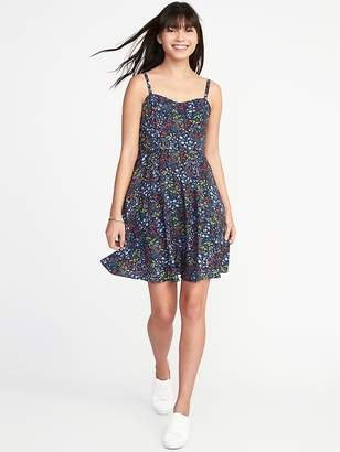Old Navy Fit & Flare Printed Cami Dress for Women