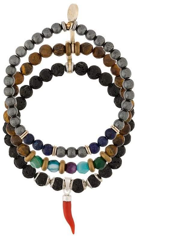 Fefè pack of three beaded bracelets