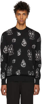 McQ Black Bunny Sticker Sweatshirt