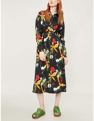 9fdfe5609effc5 at Selfridges · KITRI Phoenix floral-print crepe midi dress