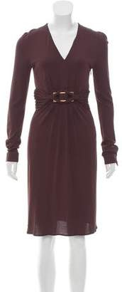 Gucci Belted Knee-Length Dress