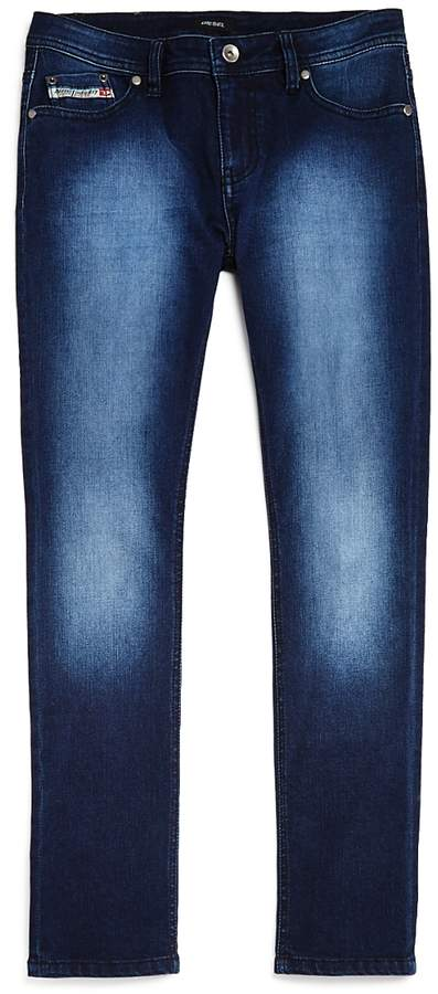 Boys' Faded Dark-Wash Straight-Leg Jeans - Big Kid