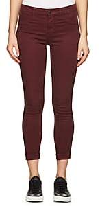 J Brand WOMEN'S ANJA CROP SKINNY JEANS-RED SIZE 26