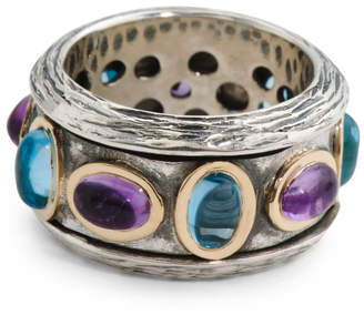 Made In Portugal 14k And Sterling Silver Spinner Ring