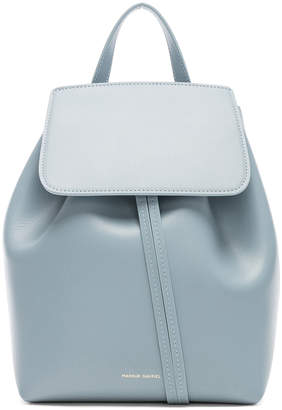 Mansur Gavriel Mini Backpack in Grey Blue | FWRD