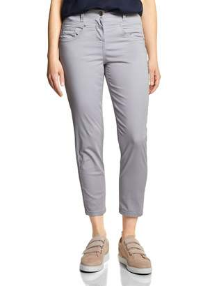 Cecil Women's Tracey Casual Fit Trousers with dot Pattern