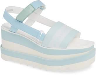 Stella McCartney Stripe Logo Platform Sandal