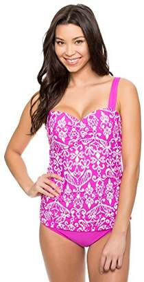Athena Women's Underwire Supportive Swimsuit Tankini Top