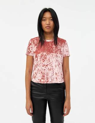 Which We Want Ceilidh Short Sleeve Velvet Tee