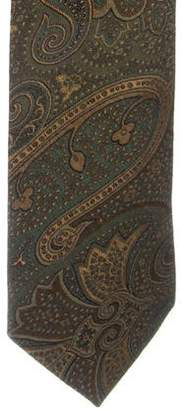 Etro Paisley Jacquard Silk Tie