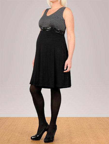 Apeainthepod Ella moss sleeveless colorblock maternity dress