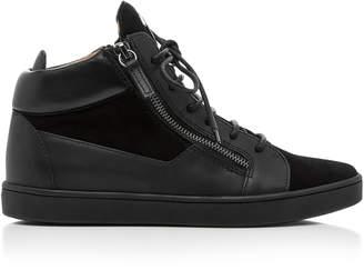 Giuseppe Zanotti High-Top Leather Sneaker