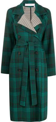 See by Chloe double-breasted check coat