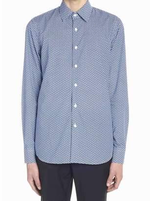 Prada All-Over Geometric Print Shirt