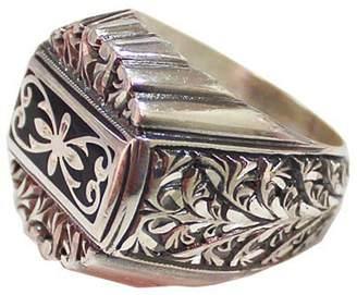 Express Falcon Jewelry Sterling silver men ring, steel pen processing handmade, Shipping