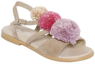 Oca-Loca Suede Sandals W/ Pompoms