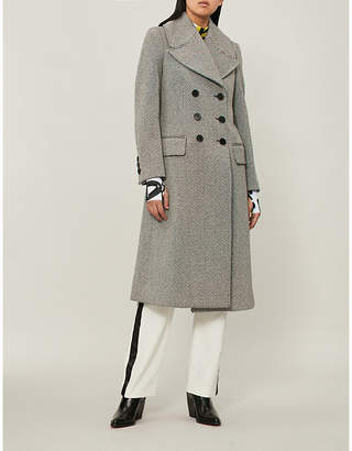 Burberry Aldermore-pattern wool-blend coat