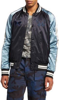 Valentino Men's Butterfly Applique Bomber Jacket