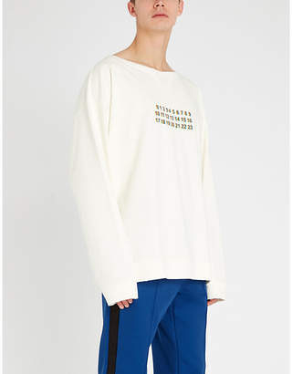 Maison Margiela Logo-print cotton-jersey sweatshirt