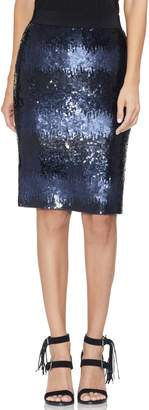 Vince Camuto Stripe Sequin Pencil Skirt