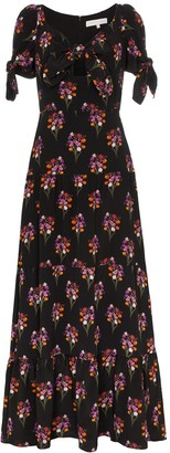 Borgo de Nor ophelia floral print silk dress