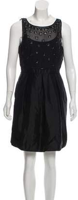 Carmen Marc Valvo Silk A-Line Dress w/ Tags