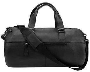 Black Brown 1826 Percy Leather Duffel Bag