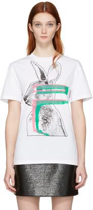 McQ Alexander Mcqueen White Glitch Bunny Classic T-Shirt $155 thestylecure.com
